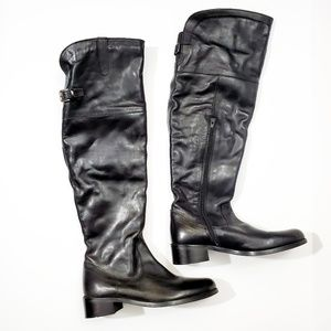 CATHERINE MALANDRINO Leather Over The Knee Boots